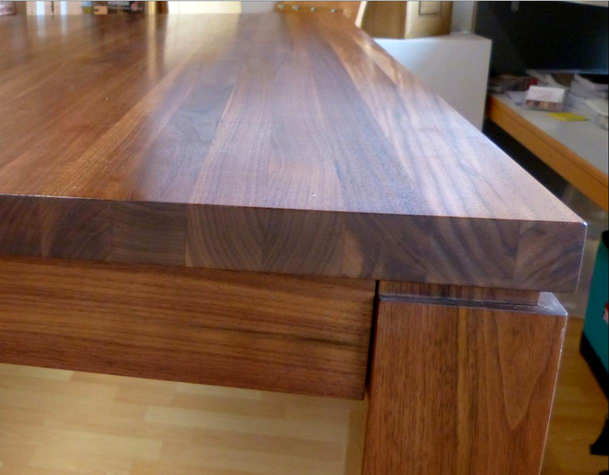 tischplatte – arbeitsfläche – hartwachsöl oder wachs | natural