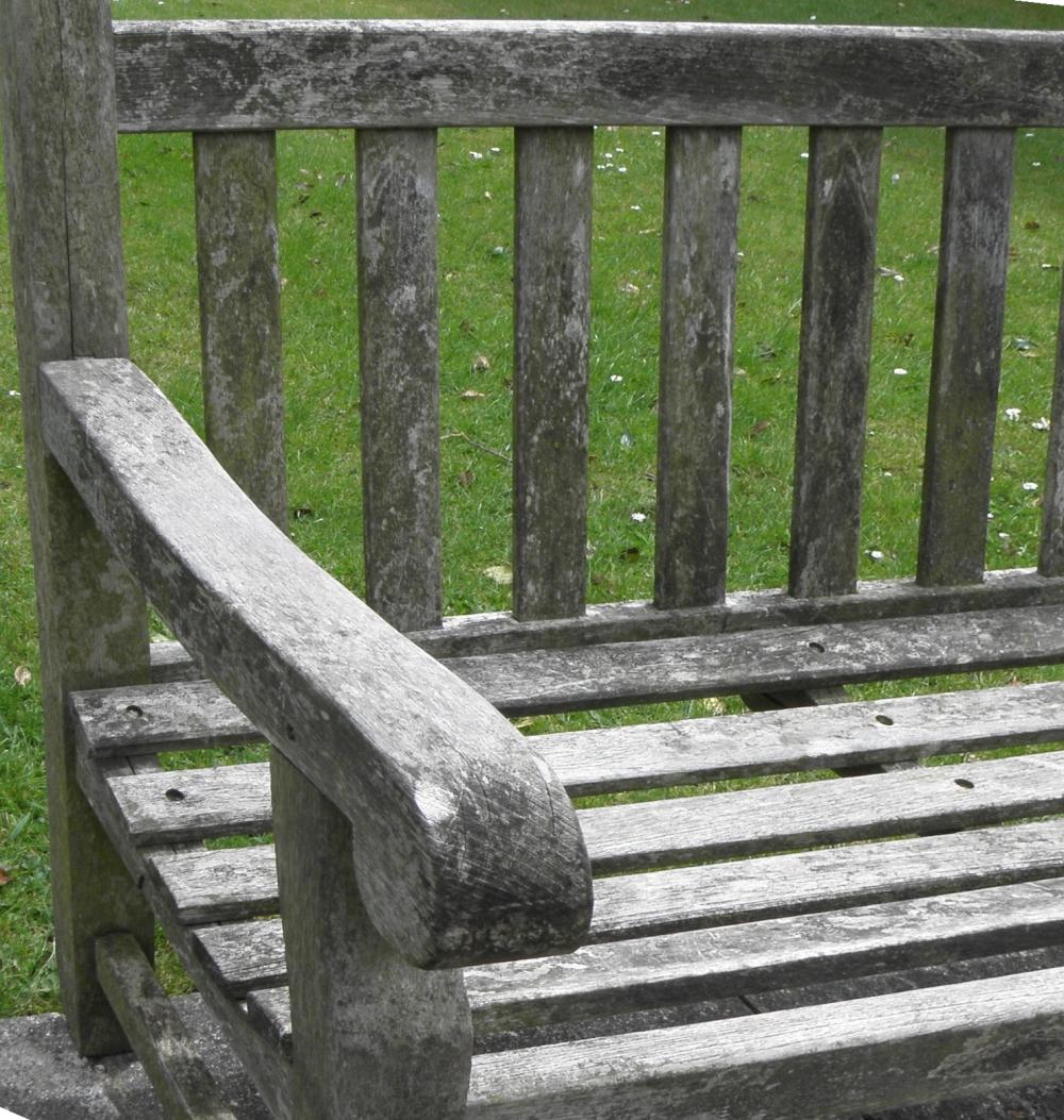 Graues Teakholz Aufhellen Verwittertes Gartenmöbel Reingen Und