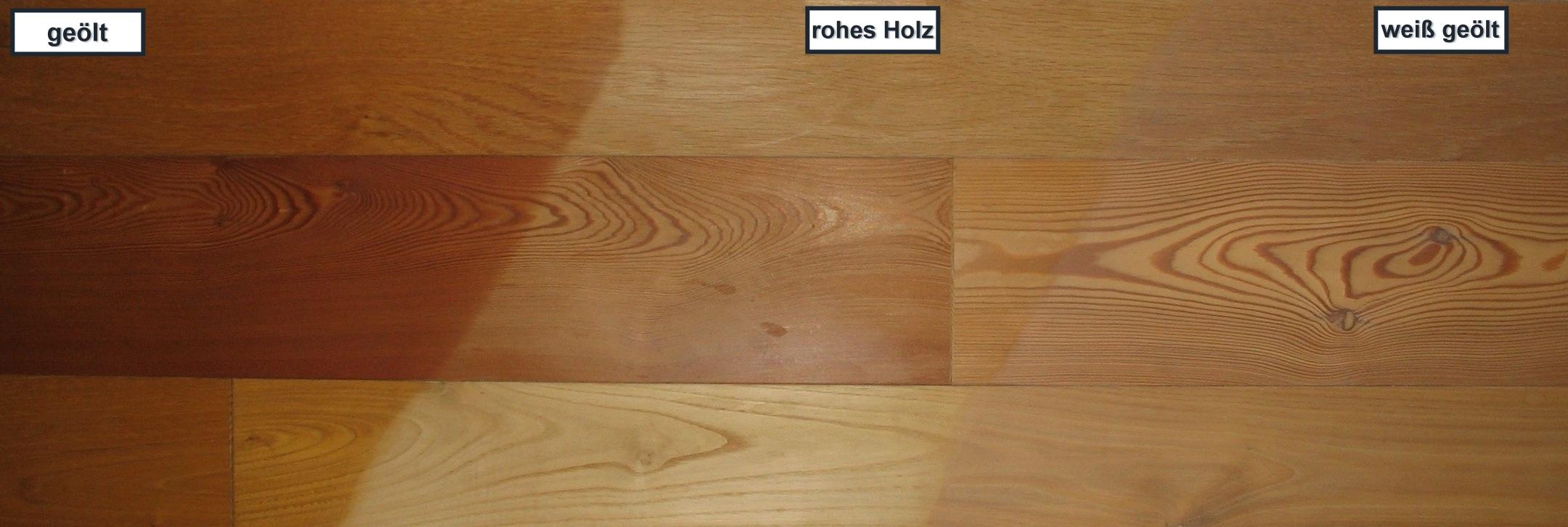 Anfeuerung der Holzfarbe durch Hartöl