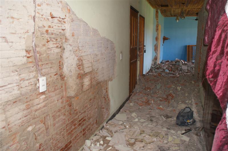 Nötige Renovierung der KiTa in Cáceres