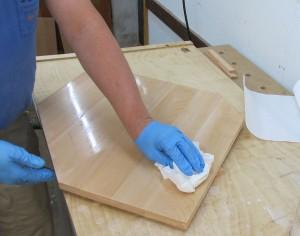 Möbel Hartöl - Überstand abnehmen