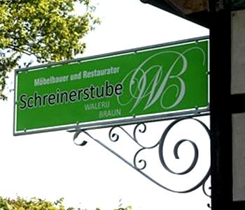 Restaurator und Tischler in Lübbecke - Schreinerstube W.Braun