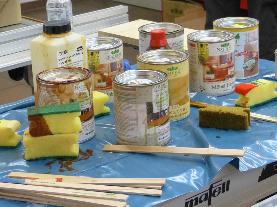 Naturfarben im Einsatz bei der Kurswerkstatt bei Heiko Rech