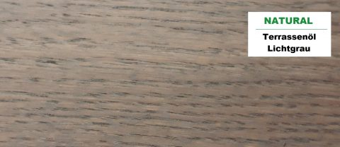 Terrasse vergrauen mit Terrassenöl lichtgrau