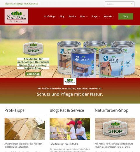 Das neue Layout vom Natural Naturfarben Blog