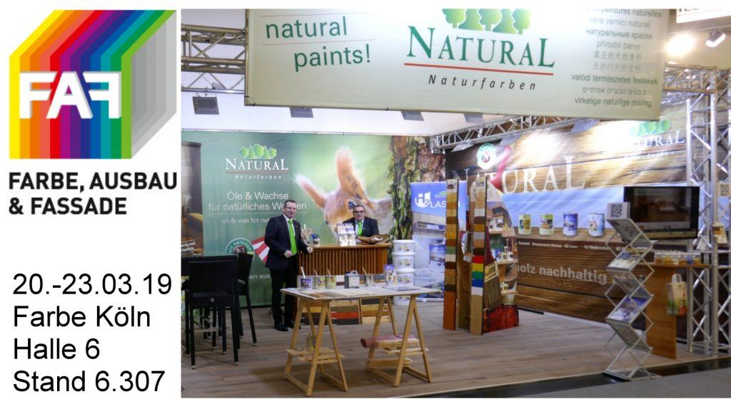 Natural Naturfarben stellt auf der Farbe 2019 in Köln aus