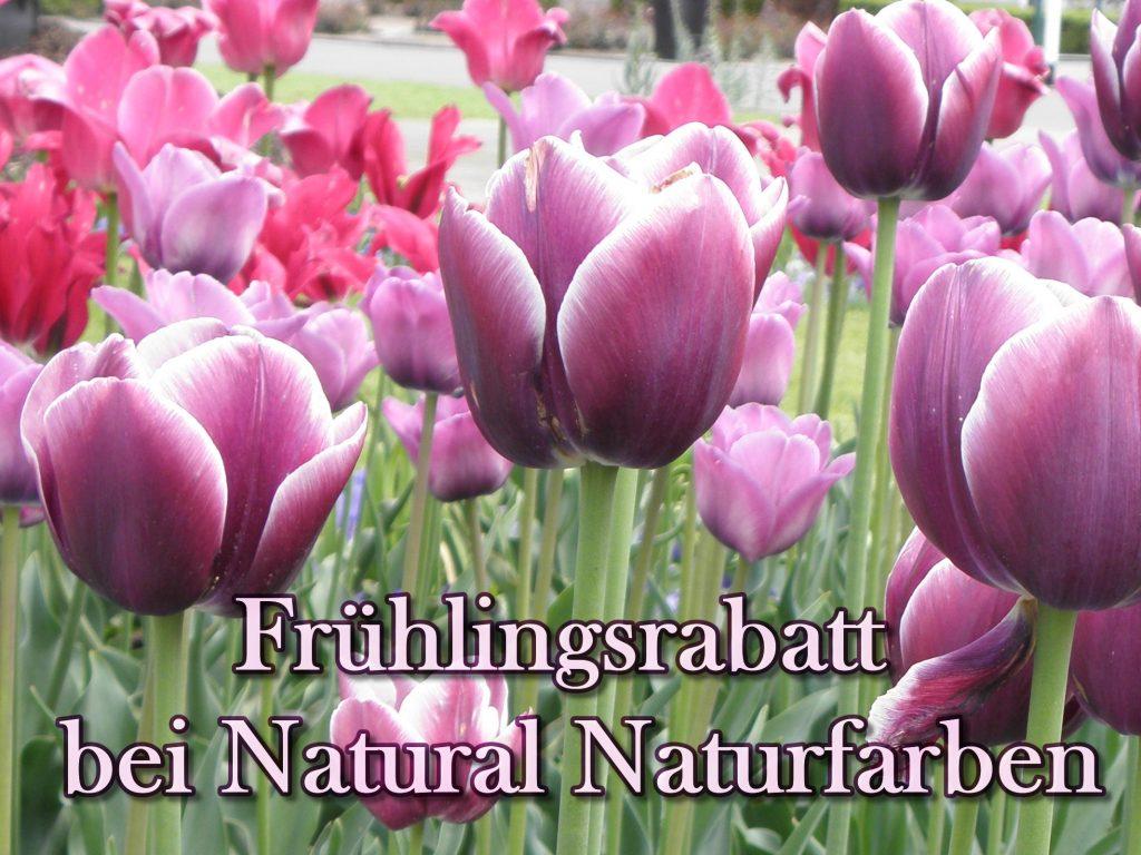 Frühlingsaktion bei Natural Naturfarben: Kaufen und Gutes tun