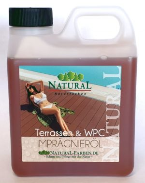 WPC-Öl schützt Terrassendielen