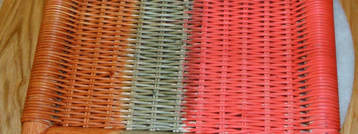 Flechtwerk lässt sich mit Naturfarben behandeln
