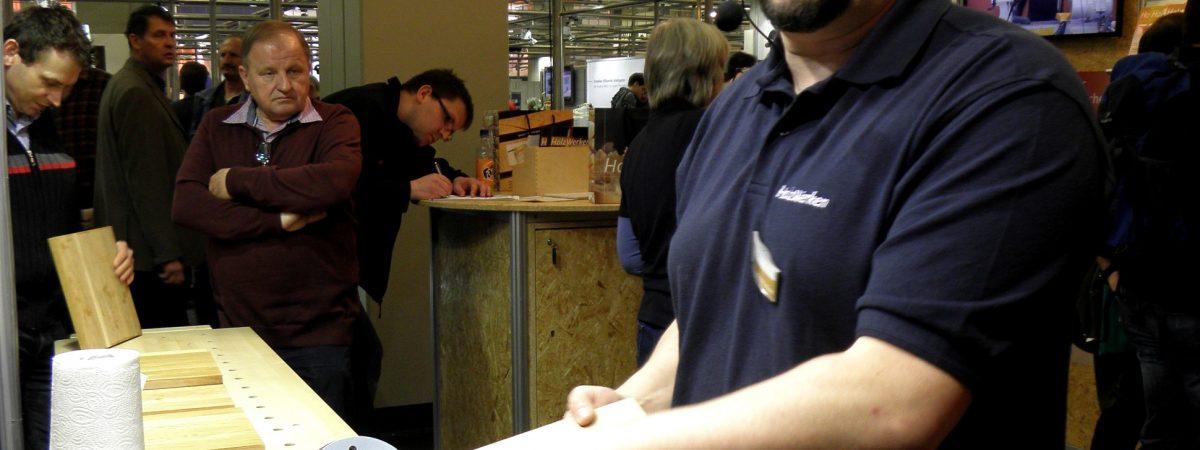 In der Kurswerkstatt von Heko Rech lernt man den rechten Umgang mit Holz