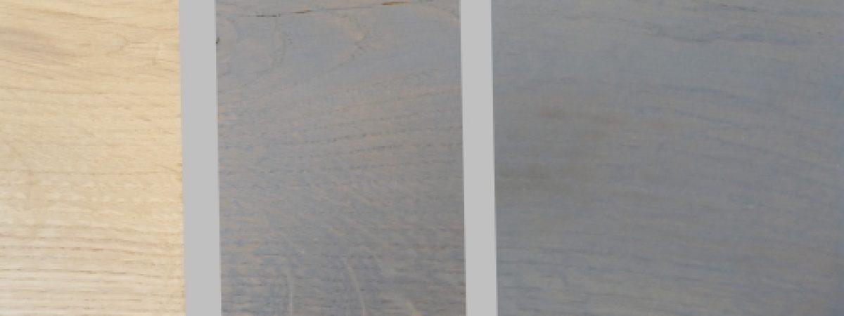 Eiche Terrassediele grau streichen